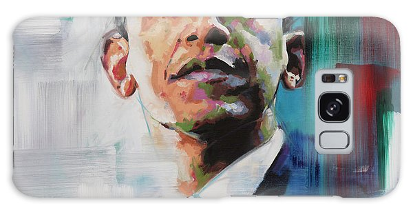 Abstract Expressionism Galaxy Case - Obama by Richard Day