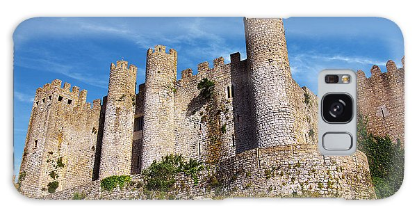 Stone Wall Galaxy Case - Obidos Castle by Carlos Caetano