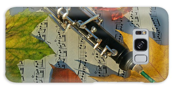 Oboe And Sheet Music On Autumn Afternoon Galaxy Case