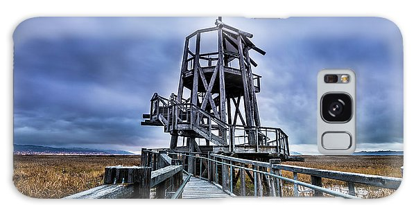 Observation Tower - Great Salt Lake Shorelands Preserve Galaxy Case by Gary Whitton