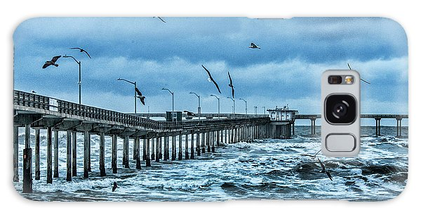 Ocean Beach Fishing Pier Galaxy Case