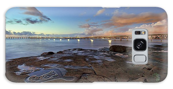 Ocean Beach Pier At Sunset, San Diego, California Galaxy Case