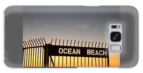 Ocean Beach Pier Gate Galaxy Case