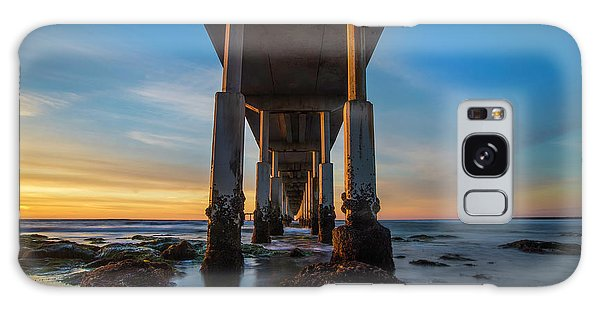 Tides Galaxy Case - Ocean Beach Pier by Larry Marshall