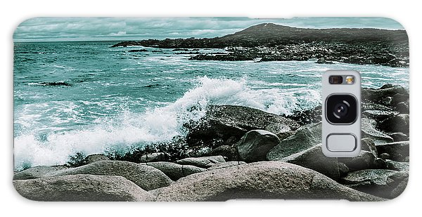 Tides Galaxy Case - Ocean Blue Granville Harbour by Jorgo Photography - Wall Art Gallery