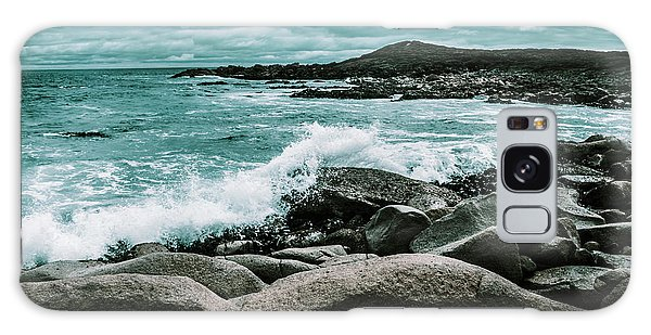 Seashore Galaxy Case - Ocean Blue Granville Harbour by Jorgo Photography - Wall Art Gallery