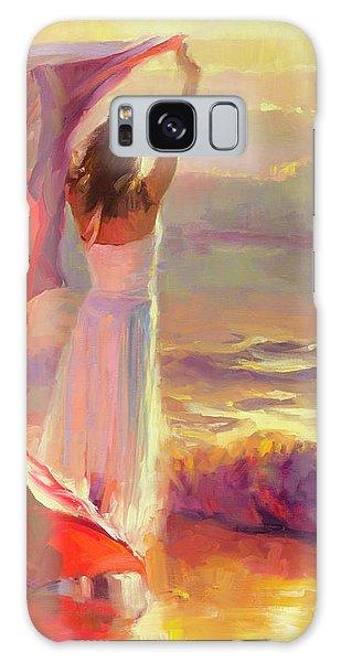 Beach Sunset Galaxy Case - Ocean Breeze by Steve Henderson
