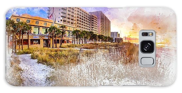 Ocean Drive Sunrise Watercolor Galaxy Case
