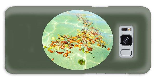 Ocean Flowers Oval Galaxy Case by Linda Hollis