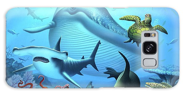 Sharks Galaxy Case - Ocean Life by Jerry LoFaro