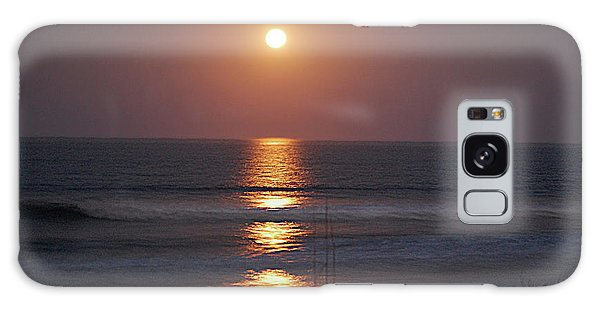 Ocean Moon In Pastels Galaxy Case by DigiArt Diaries by Vicky B Fuller