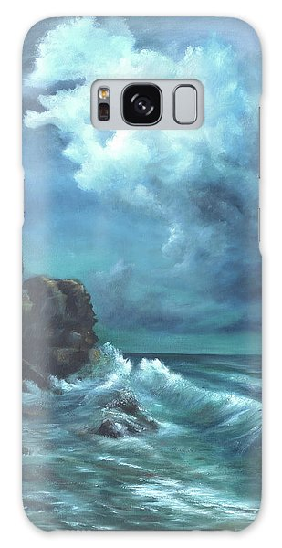 Seascape And Moonlight An Ocean Scene Galaxy Case