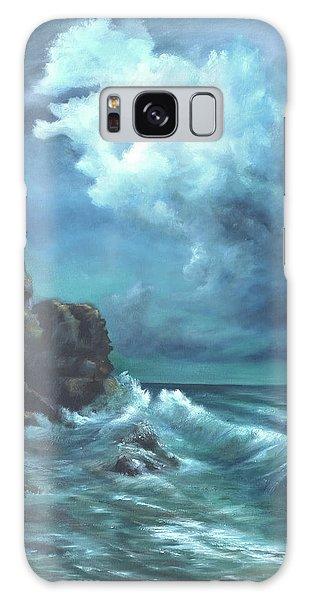 Seascape And Moonlight An Ocean Scene Galaxy Case