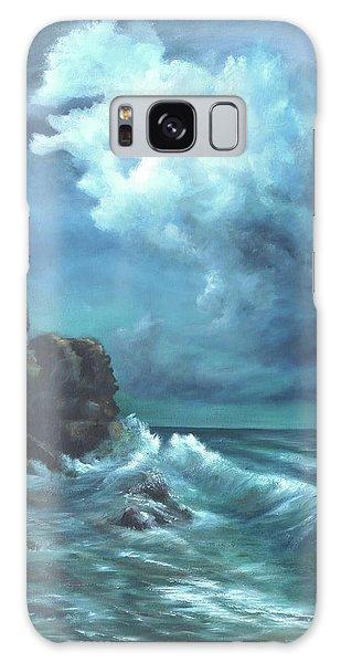Seascape And Moonlight An Ocean Scene Galaxy Case by Luczay