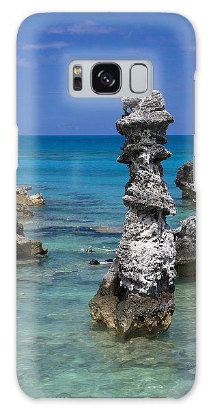 Ocean Rock Formations Galaxy Case by Sally Weigand