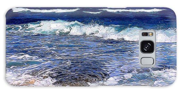 Ocean Scene In Abstract 14 Galaxy Case