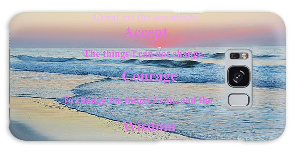 Ocean Sunrise Serenity Prayer Galaxy Case