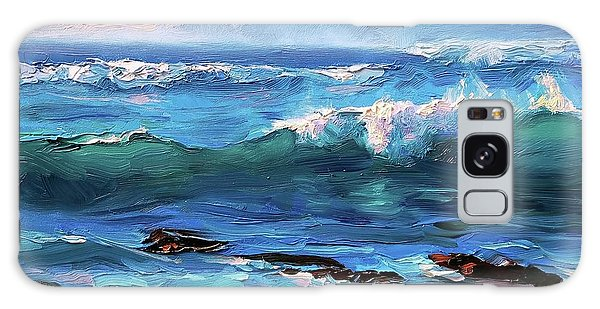 Coastal Ocean Sunset At Turtle Bay, Oahu Hawaii Beach Seascape Galaxy Case
