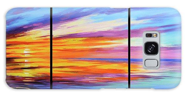 Beach Sunset Galaxy Case - Ocean Sunset by Graham Gercken