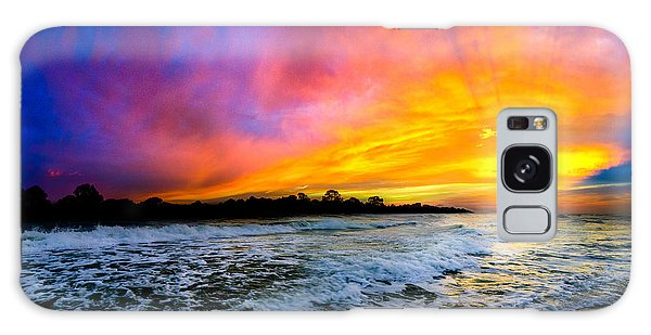 Ocean Sunset Landscape Photography Red Blue Sunset Galaxy Case
