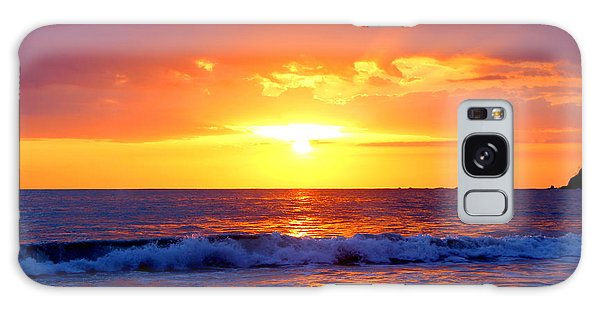Ocean Sunset Manuel Antonio Costa Rica Galaxy Case by Irina Hays