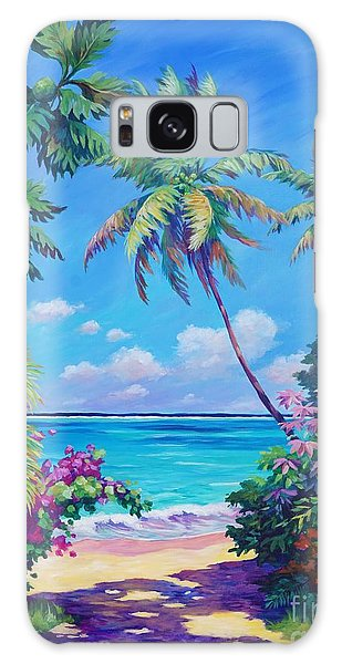 Bright Galaxy Case - Ocean View With Breadfruit Tree by John Clark