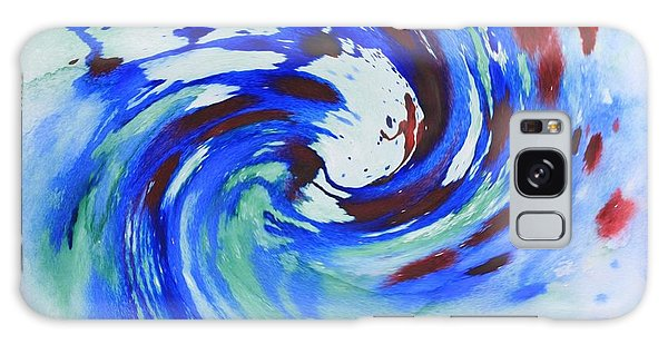 Ocean Wave Watercolor Galaxy Case
