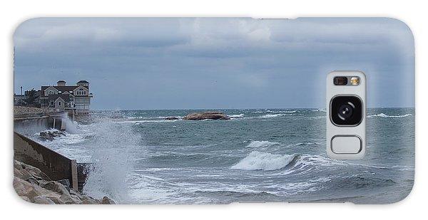 Ocean Waves At Minot Beach Galaxy Case