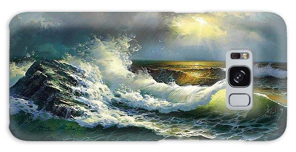 Ocean Waves Galaxy Case