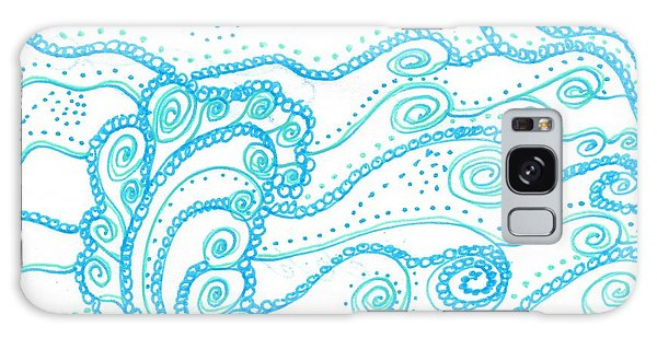 Ocean Waves Galaxy Case
