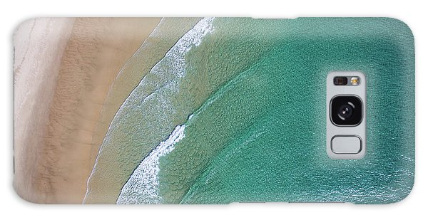Ocean Waves Upon The Beach Galaxy Case