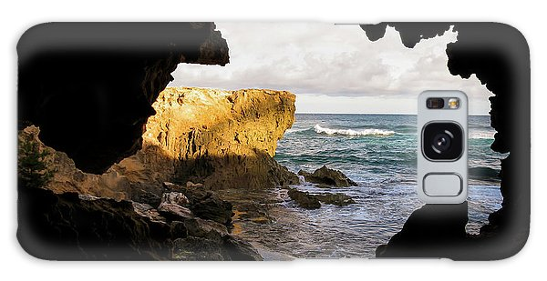 Oceanfront Cave Galaxy Case