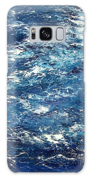 Ocean's Blue Galaxy Case by Valerie Travers