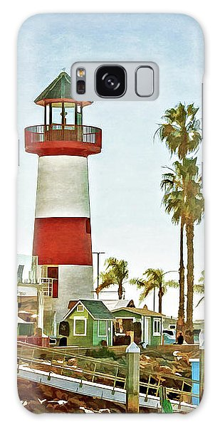 Oceanside Harbor Lighthouse Galaxy Case