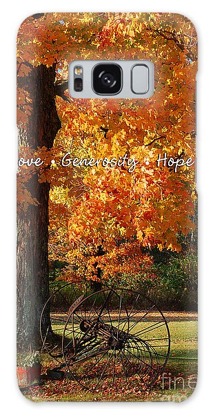 October Day Love Generosity Hope Galaxy Case by Diane E Berry