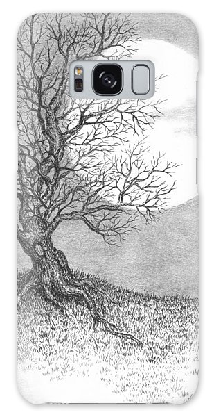 Pen And Ink Drawing Galaxy Case - October Moon by Adam Zebediah Joseph