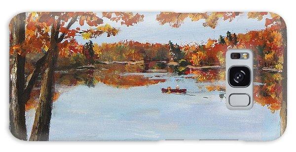 October Morn At Walden Pond Galaxy Case