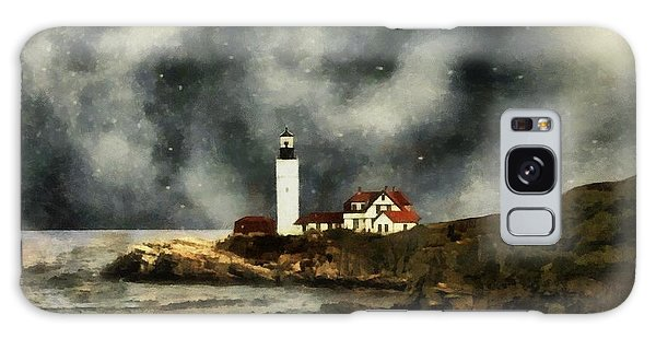 October Night, Portland Head Galaxy Case