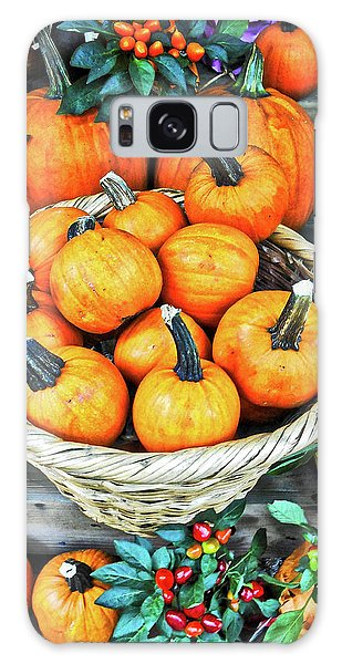 October Pumpkins Galaxy Case