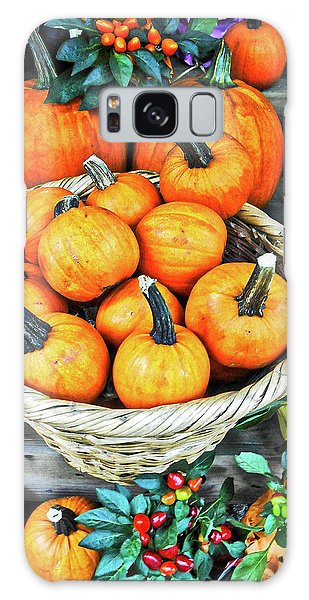 October Pumpkins Galaxy Case by Joan Reese