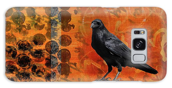 Galaxy Case featuring the painting October Raven by Nancy Merkle