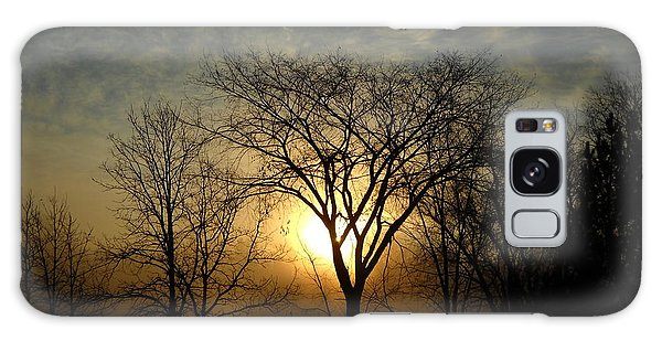 October Sunrise Behind Elm Tree Galaxy Case by Kent Lorentzen