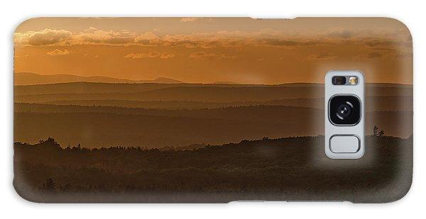 October Sunset In Acadia Galaxy Case