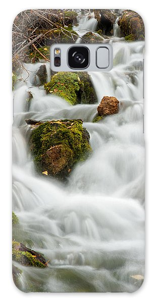 October Waterfall Galaxy Case