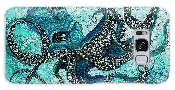 Galaxy Case featuring the painting Octopus by Darice Machel McGuire