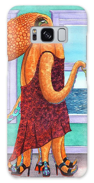 Octopus In A Cocktail Dress Galaxy Case