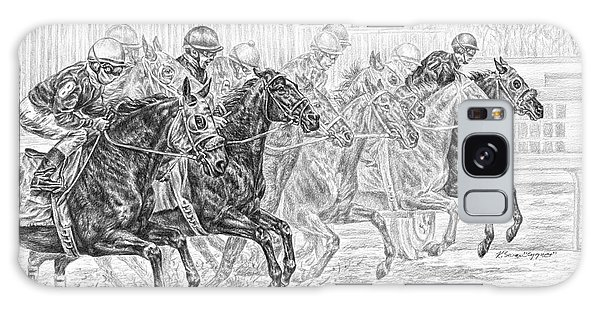Odds Are... - Tb Race Horse Print Galaxy Case by Kelli Swan