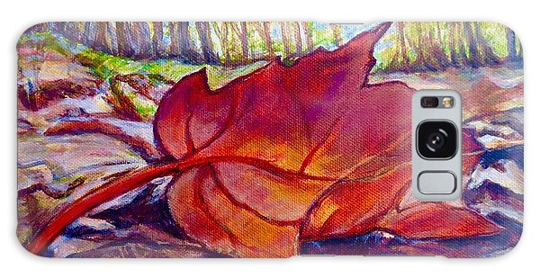 Ode To A Fallen Leaf Painting Galaxy Case by Kimberlee Baxter