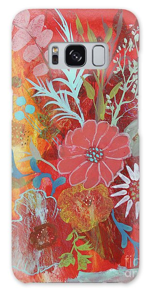 Galaxy Case featuring the painting Ode To Spring by Robin Maria Pedrero