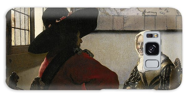 Jan Vermeer Galaxy Case - Officer And Laughing Girl by Jan Vermeer
